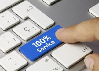 100% Service Tastatur. Finger